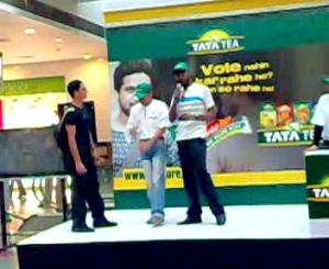Nitya Prakash at TATA Tea Vote for India Campaign
