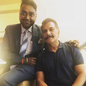 Dr. Nitya Prakash with Pavan Raj Malhotra